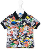Kenzo cartoon print polo shirt - kids - Cotton - 24 mth