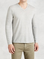 John Varvatos Pintuck V-Neck Sweater