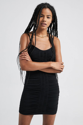 Urban Outfitters Strappy Ruched Mini Dress