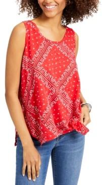 Style&Co. Style & Co Petite Bandana-Print Tank Top, Created for Macy's
