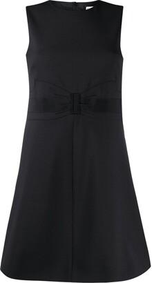 RED Valentino Bow-Detail Sleeveless Mini Dress