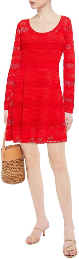 Thumbnail for your product : M Missoni Crochet-knit Cotton-blend Mini Dress