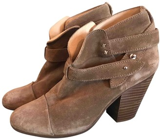 Rag & Bone Camel Suede Ankle boots