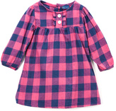 Sweet & Soft Pink Plaid Button-Front Dress - Infant & Toddler