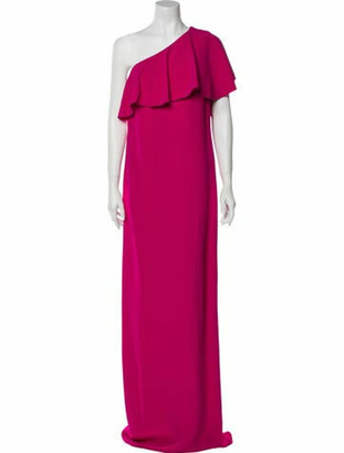 Lanvin One-Shoulder Long Dress w/ Tags Pink