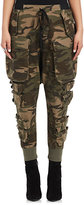 Ben Taverniti Unravel Project Women's Camouflage Cotton-Blend Cargo Pants