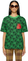 Thumbnail for your product : SSENSE WORKS SSENSE Exclusive Jeremy O. Harris Black & Green Rose T-Shirt