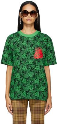 SSENSE WORKS SSENSE Exclusive Jeremy O. Harris Black & Green Rose T-Shirt