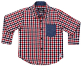 Something Strong Red & Black Plaid Button-Down - Boys