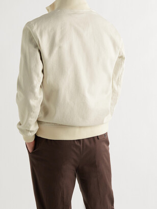 Valstar Valstarino Slim-Fit Herringbone Linen And Cotton-Blend Bomber Jacket