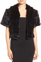 Collection XIIX Faux Fur Sequin Insert Jacket