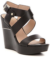 Aldo Faustina Banded Leather Platform Wedge Sandals