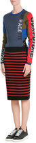 Marc by Marc Jacobs Striped Merino Wool Skirt