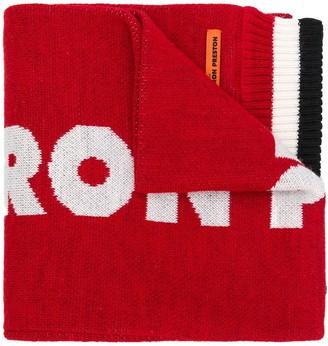 Heron Preston Dragons knitted scarf