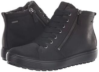 Ecco Soft 7 Tred GORE-TEX(r) High (Black Cow Oil Nubuck) Women's Shoes