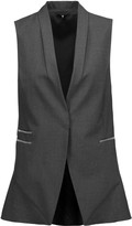 Brunello Cucinelli Bead-embellished wool-blend vest