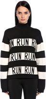 Sportmax Run Stripes Wool Blend Knit Sweater