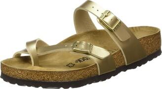 Birkenstock Women's Passe-pouces Mayari Birko-Flor Gold Sandal 6 UK