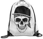 ZhiPage Skul Cap La Coka Nostra Hip-hop String Backpacks School Sports