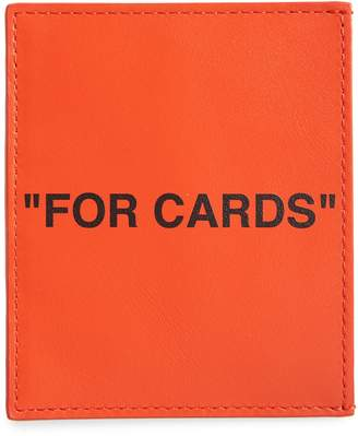 Off-White Quote Leather Card Holder