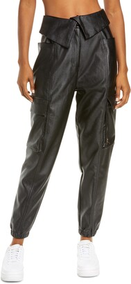 Jordan Court-to-Runway Faux Leather Utility Pants