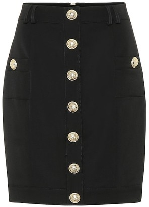 Balmain Wool mini skirt