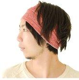 Casualbox mens Head band Accessory Hair Wrap Bandana Japanese Black - Purple