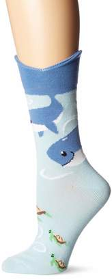 K. Bell Socks Women's Wide Mouth Whale Tail