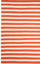 DwellStudio Draper Stripe 5x7.6 Rug in Persimmon