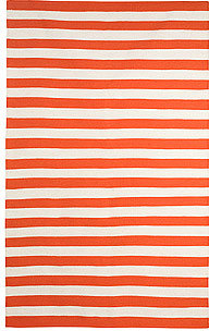 DwellStudio Draper Stripe 5x7.6 Rug in Persimmon