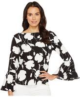 Karen Kane Crop Flare Sleeve Top Women's Clothing