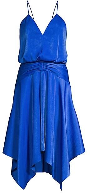 Aidan Mattox Charmeuse Blouson Cocktail Dress