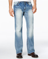 INC International Concepts Men's Franko Boot-Cut Light Blue Wash Jeans, Only at Macy's
