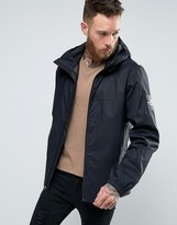 The North Face Mountain Q Jacket Hooded Sleeve Logo In Black