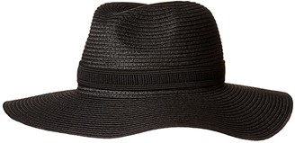 Madewell Packable Mesa Straw Hat (True Black) Baseball Caps
