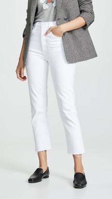 A Gold E Agolde Hi Rise Straight Riley Crop Jeans