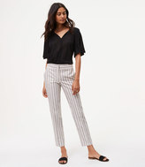 LOFT Striped Relaxed Ankle Pants