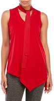 Rafaella Petite Sleeveless Tie Neck Top