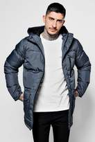 Boohoo Long Line Puffer Jacket