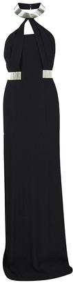 Boss Black Boss by Hugo Embellished Halter Neck Maxi Gown S