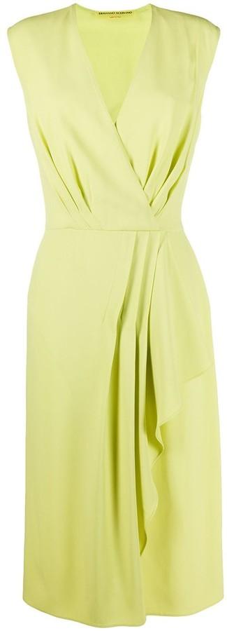 Ermanno Scervino Sleeveless Wrap Style Dress