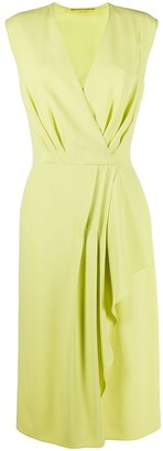 Ermanno Scervino Sleeveless Wrap Style Dress
