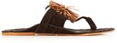 Figue Twiggy pompom suede sandals