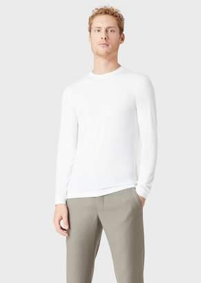 Giorgio Armani T-Shirt En Jersey De Viscose Stretch