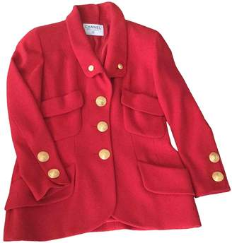 Chanel Red Wool Jackets