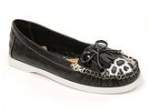 Black Leopard Boat Shoe