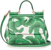 Dolce & Gabbana Sicily medium banana leaf-print leather tote