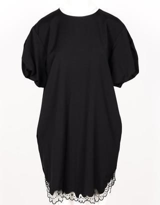 N°21 Black Pure Wool Women's Dress w/Lace