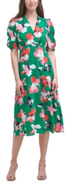 Thumbnail for your product : Vince Camuto Printed V-Neck Midi Dress