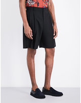 Mcq Alexander Mcqueen Relaxed-fit Wool Shorts